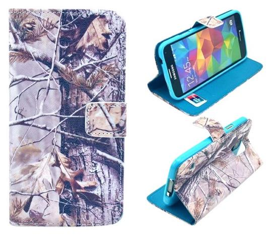 Other Galaxy S5 Camo Flip Wallet Credit ID Card Slot Holder Phone Case With Stand