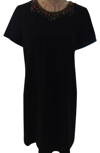Preload https://item4.tradesy.com/images/kate-spade-black-with-rhinestones-embellishments-around-neckline-gold-zipper-on-the-outside-on-back--6020323-0-0.jpg?width=400&height=650