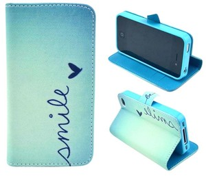 Smile iPhone 4S Wallet Phone Case with Magnetic Closure