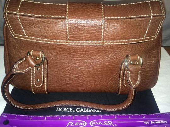Dolce&Gabbana Dolce & Gabbanna Leather Handbag Small New Satchel in Brown