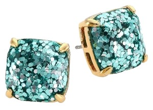 Kate Spade NEW kate spade New York Aquamarine Blue Glitter Studs - 12k Gold Earrings