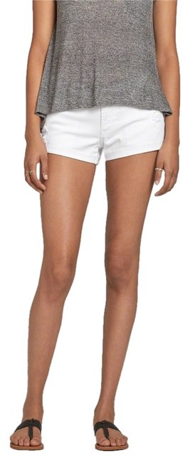 Abercrombie & Fitch Anf A&f Denim Jean Low Cut Off Shorts White
