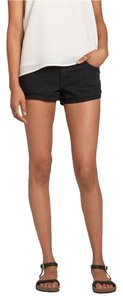 Abercrombie & Fitch Mineral Wash Denim Cut Off Shorts Black