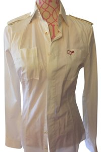 D square shirt Button Down Shirt White shirt