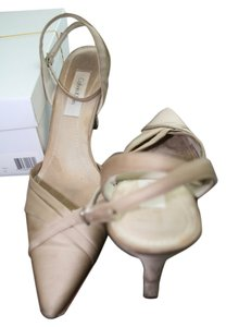 Calvin Klein Satin Pointed Toe Gold Taupe Sandals