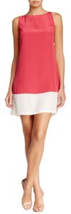 Love Token Shift 100% Silk Silk Colorblock Raspberry Nordstrom Dress
