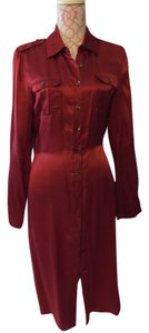 Talbots short dress Red copper on Tradesy