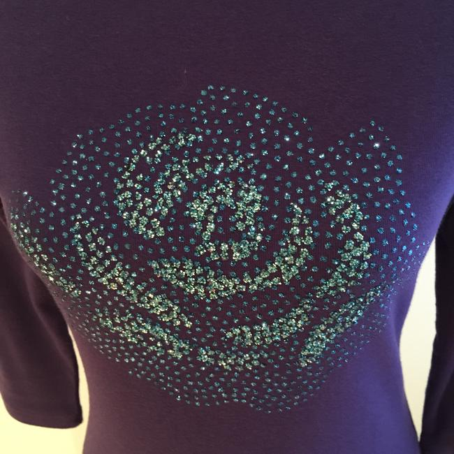 New York & Company Size Small Tees Embellished Tees Tops T Shirt Purple