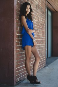 Kaya di Koko Romper Blue Sleeveless Flirty Dress