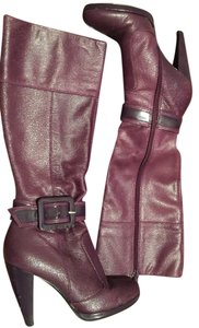 Miss Sixty Leather Purple Boots