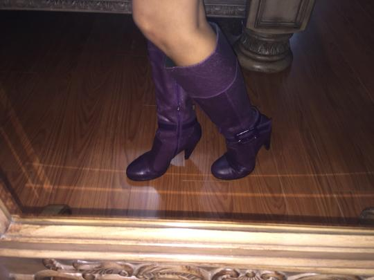 Miss Sixty Leather Fall Purple Boots