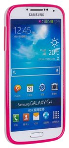 Mansion Mansion Jelly Mercury TPu Slim Case for Samsung Galaxy S4 (Hot Pink with Stripe)