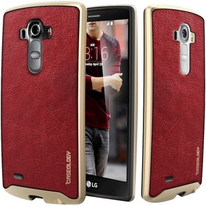 Caseology Caseology LG G4 Leather Textured Burgundy Case