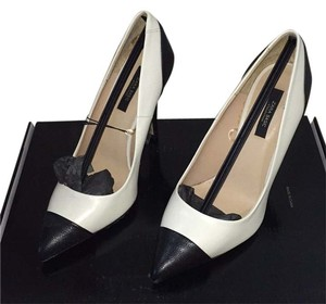 Zara Black and White Pumps