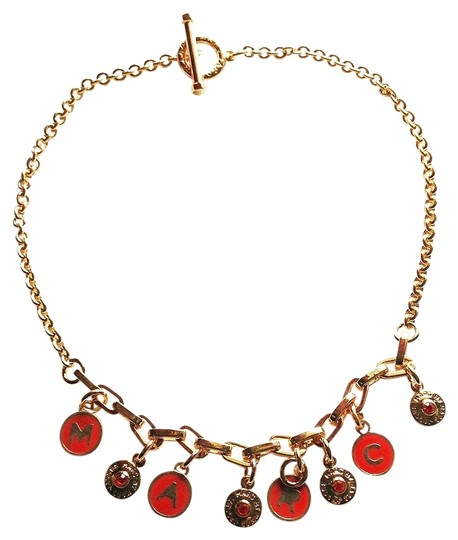 "Marc by Marc Jacobs NEW Marc by Marc Jacobs Classic Multi Charm Necklace - 18"" 10k Gold"