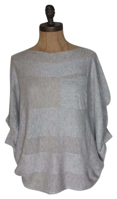 Anthropologie Knit Oversize Willow & Clay Boxy Top GRAY