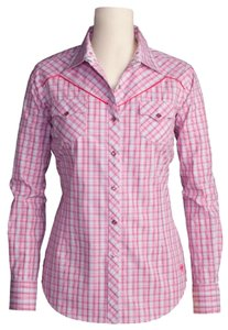 Ariat Caitlin Caitlin Snaps Button Down Shirt Pinks
