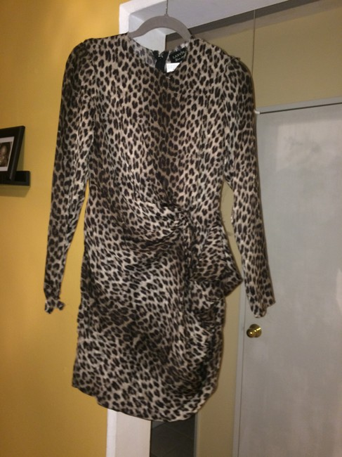Lanvin Leopard Silk Designer New With Tags Dress