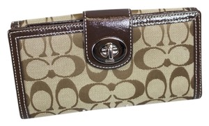 Coach * Coach Signature Canvas Wallet