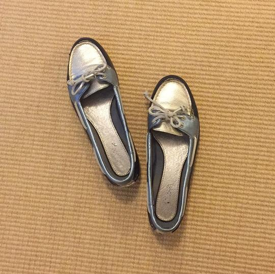 Sperry Blue and Silver Flats