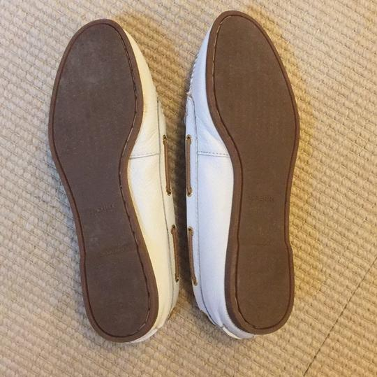 Sperry White and tan Flats