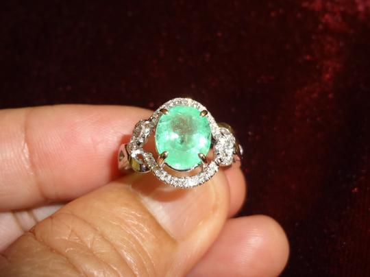 Other 2.08 CT COLOMBIAN EMERALD&DIAMOND 14k GOLD ENGAGEMENT RING