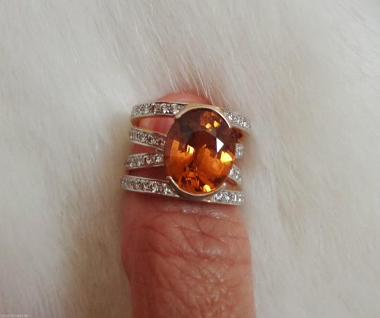 Other HUGE*CERTIFIED 8.30ct NATURAL SAPPHIRE AND VVS1 DIAMOND 22K GOLD RING