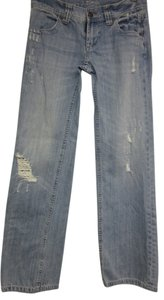 Victoria's Secret Soft Holes Boot Cut Jeans-Distressed