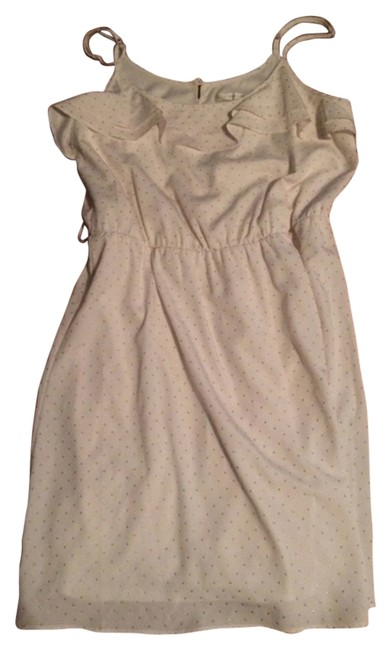 LC Lauren Conrad short dress White with gold dots on Tradesy