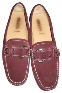 Prada Suede Never Worn Bordeaux Flats