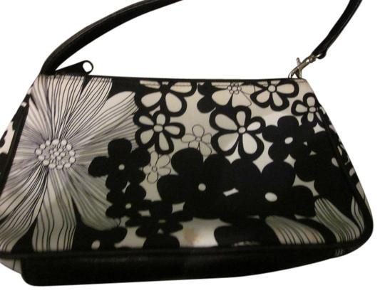 Isabella Fiore Small Flowers Sequin Satchel in black & white
