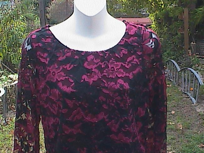 White Stag Lace Top Red Lace