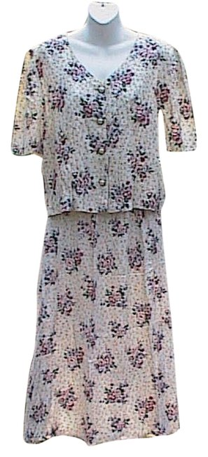 Just In Thyme Floral 2 Pc Skirt Suit Size 12 (L) Just In Thyme Floral 2 Pc Skirt Suit Size 12 (L) Image 1