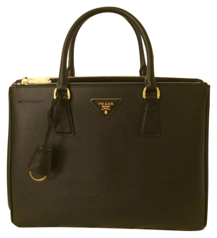 a3ed3c93b Prada Double Medium Zip Top-handle Nero - Black Saffiano Lux Leather ...