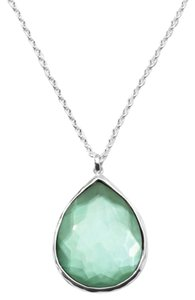 Ippolita Ippolita Green Sterling Silver Wonderland Mini Teardrop Pendant Necklace In Mint, 16