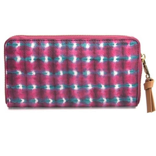 Tory Burch Tory Burch Pink Check Printed Continental Wallet New With Tags