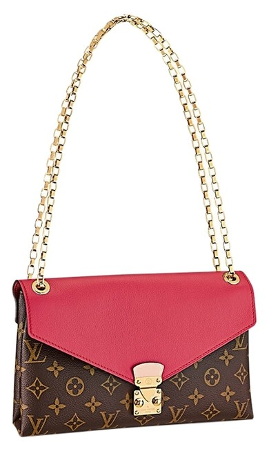 Item - Pallas Chain M40542 Red and Brown Leather Shoulder Bag