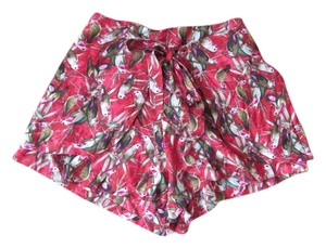Band of Gypsies Urban Outfitters Casual Print Animal Print Shorts Red