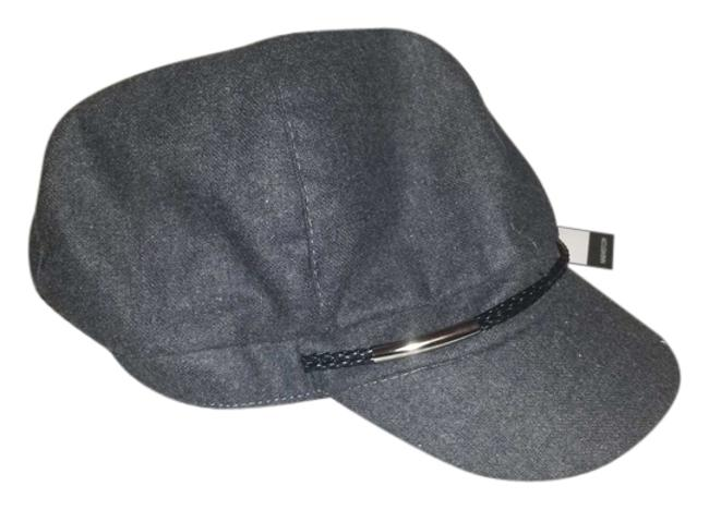 Item - Grey Flash Sale Wool Cap Military with Black and Silver Band Hat
