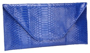 Other Snake Skin Print. Blue Clutch