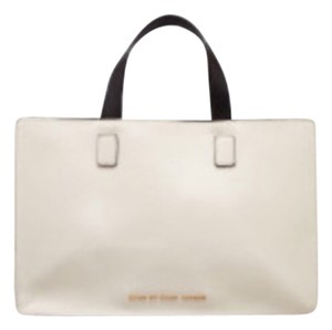 Marc by Marc Jacobs Color-blocking Satchel in Black And White