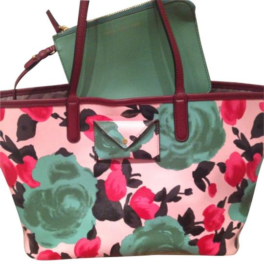 Marc by Marc Jacobs Floral Jerrie Metropolitote Preppy Spring Tote in Rose
