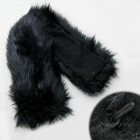 Other Black Faux Fur Neck Scarf Stole Collar. 24