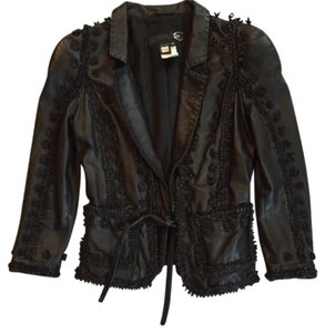 Just Cavalli Balck Leather Jacket