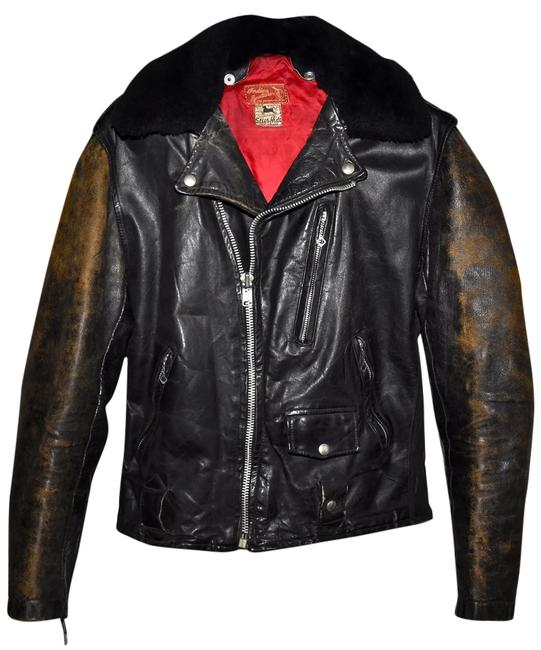 Indian Motorcycles Motorcycle Leather Leather Leather Motorcycle Vintage 1950s 50s Genuine Vintage Antique Moto Perfecto Ranger Indian Dark brown or Black Leather Jacket