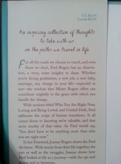 Fred Rpgers Book: Life's Journeys, According to 'Mr. Rogers', Things to remember along the Way