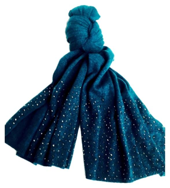 Item - Teal Embellished New with Tags Scarf/Wrap