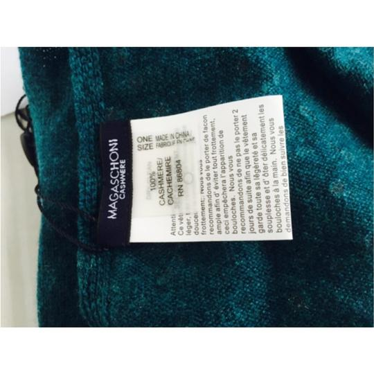 Magaschoni Magaschoni Teal embellished Scarf new With Tags