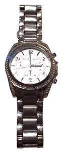 Michael Kors Ladies Chronograph White Crystal Stainless Steel Watch MK-5165