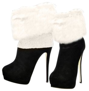Ivory Fur Top Leg Warmer Boot Socks Boot Topper